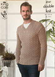King Cole DK Men's knitting pattern 4161