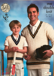 King Cole  Mens & Boys Dk Knitting pattern 2940