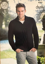 King Cole Mens Chunky knitting pattern 4283