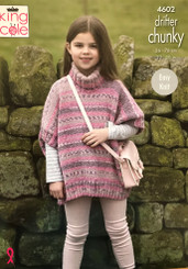 King Cole Girl's Chunky Easy knit pattern 4602
