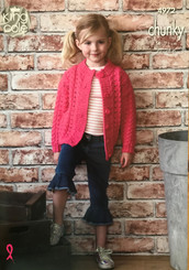 King Cole Girls Chunky knitting pattern 4972