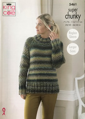 King Cole Super chunky ladies knitting pattern 5461