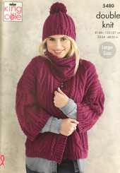 King Cole Ladies DK knitting pattern 5480