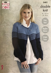 King Cole Ladies DK knitting pattern 5481