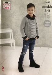 King Cole Boys DK knitting pattern 5483