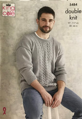 King Cole Men's DK knitting pattern 5484