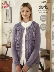 King Cole Ladies Chunky knitting pattern 5497