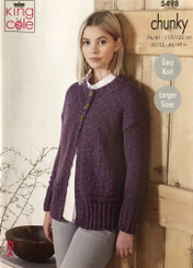 King Cole Ladies Chunky knitting pattern 5498
