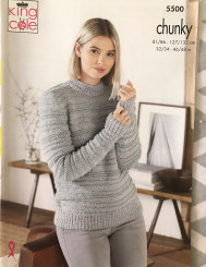 king Cole Ladies and Men's Chunky knitting pattern 5500