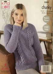 King Cole Ladies Chunky knitting pattern 5501