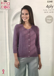 King Cole ladies 4ply knitting pattern 5348