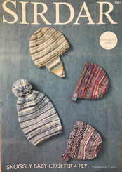 Sirdar Snuggly 4 ply  Baby Crofter hat pattern 4663
