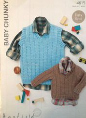 Hayfield boys  chunky knitting pattern 4615