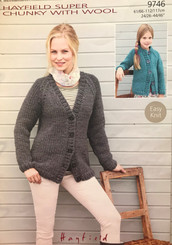 Hayfield ladies and girls super chunky knitting pattern 9746