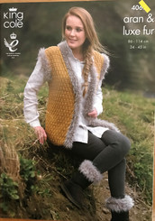 King Cole ladies Aran knitting patterns 4062