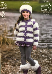 King Cole Girls Aran knitting pattern 4058