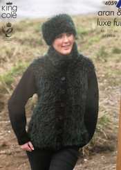 King Cole Aran knitting pattern 4059