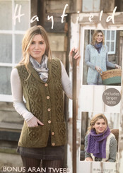 Hayfield ladies aran knitting pattern 7797