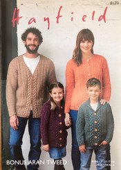 Hayfield Family Aran knitting pattern 8170