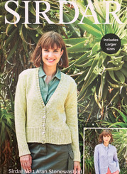 Airdar ladies Aran knitting pattern 8275