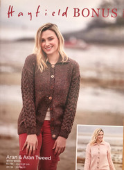 Hayfield Ladies Aran knitting pattern  10073