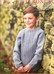Hayfield Boys Aran knitting pattern 2507
