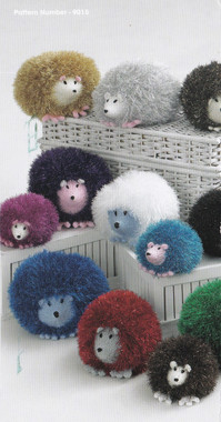 hedgehog pattern just uses one ball  of tinsel Chunky and one ball of dolly mix