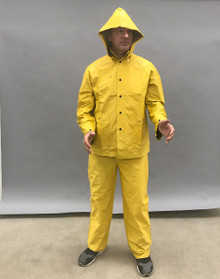 Large Two Piece Rainsuit (YELLOW)