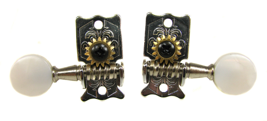 Vintage-style Chrome Open-gear Tuners/Machine Heads - 6pc. 3L/3R