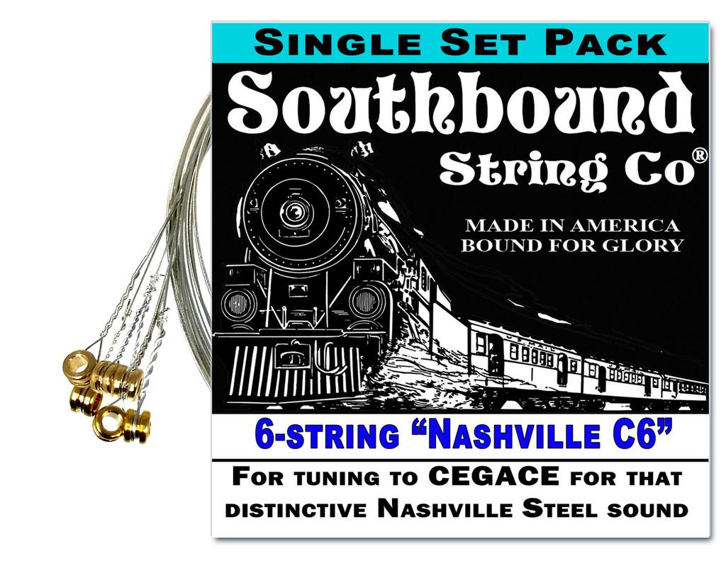 """Nashville C6"" 6-string Lap Steel Guitar String Set - Get that honky tonk sound!"