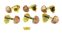 Mocha Pearloid Gold Tuners - Sealed Gear, 6pc. 3L/3R