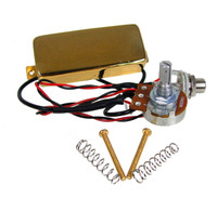 Gold Snake Oil Humbucker Pre-Wired Pickup Harness with Volume Control