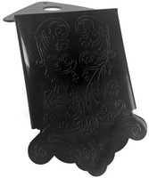 Black Decorative Tailpiece for Mandolin and Cigar Box Guitars
