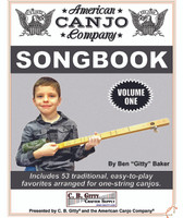 American Canjo Songbook - Volume 1 - Easy-to-play Tablature for 53 Well-Known Songs (E-book Download Version)