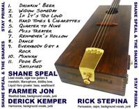 "Shane Speal & the Snakes ""Stay Primal"" CD"