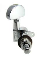 "Chrome ""Half Moon""-style Sealed-Gear Guitar Tuners/Machine Heads - 6pc. 3L/3R"