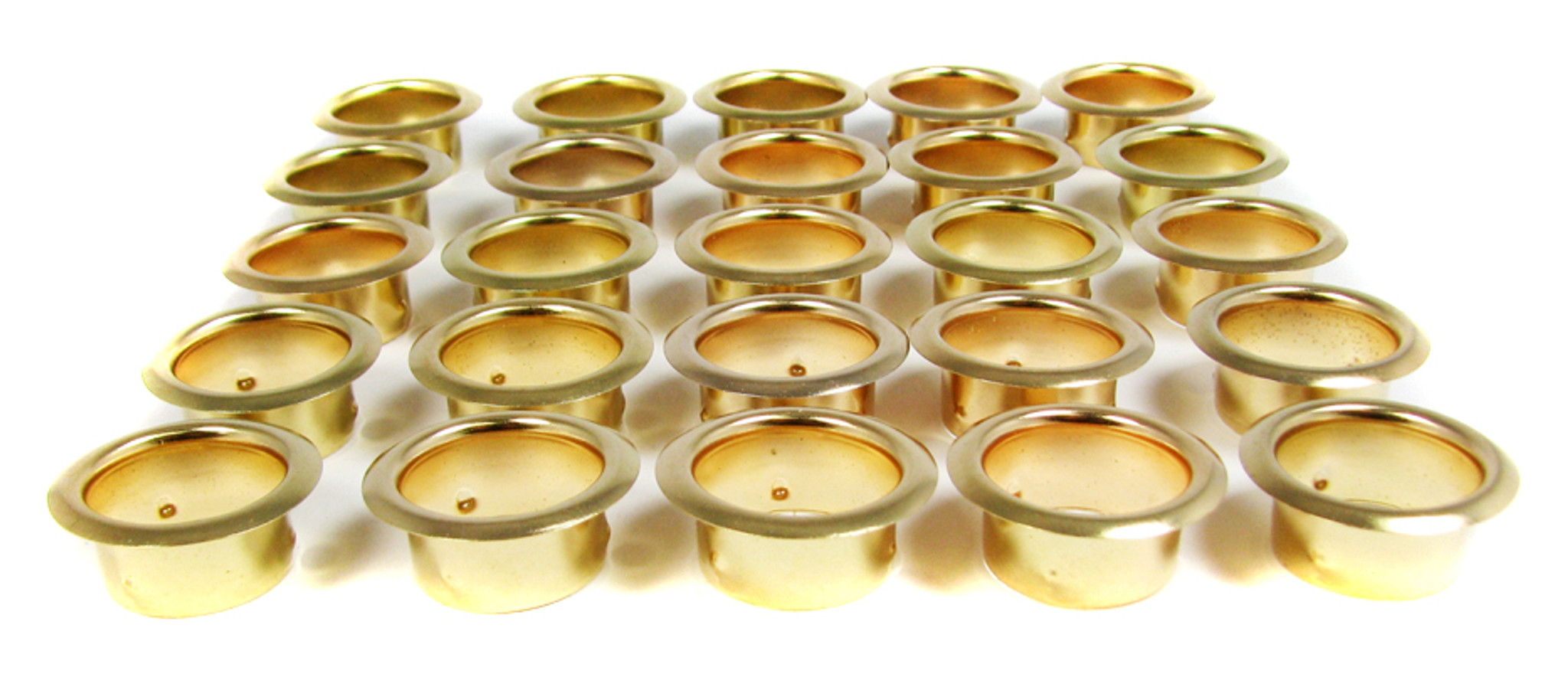 25 Pack 7 8 Inch Brass Grommets Candle Cups C B Gitty