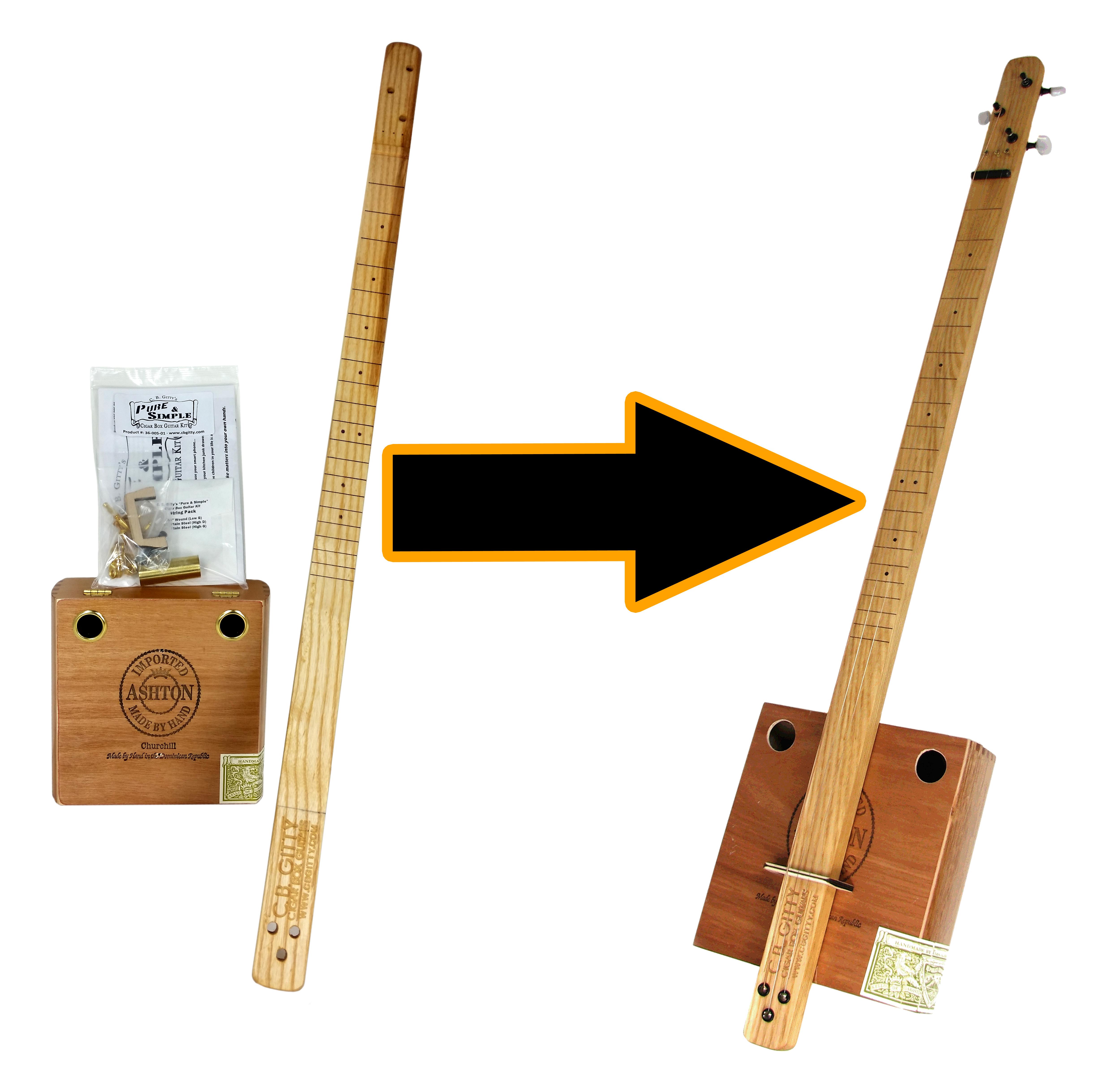 C. B. Gitty Pure & Simple Cigar Box Guitar Kit