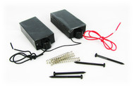 Pair of Black Enclosed 4-Pole Pickups for Bass or Cigar Box Guitar