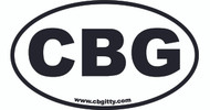1pc. 3 x 5-inch Vinyl CBG Oval Bumper Sticker