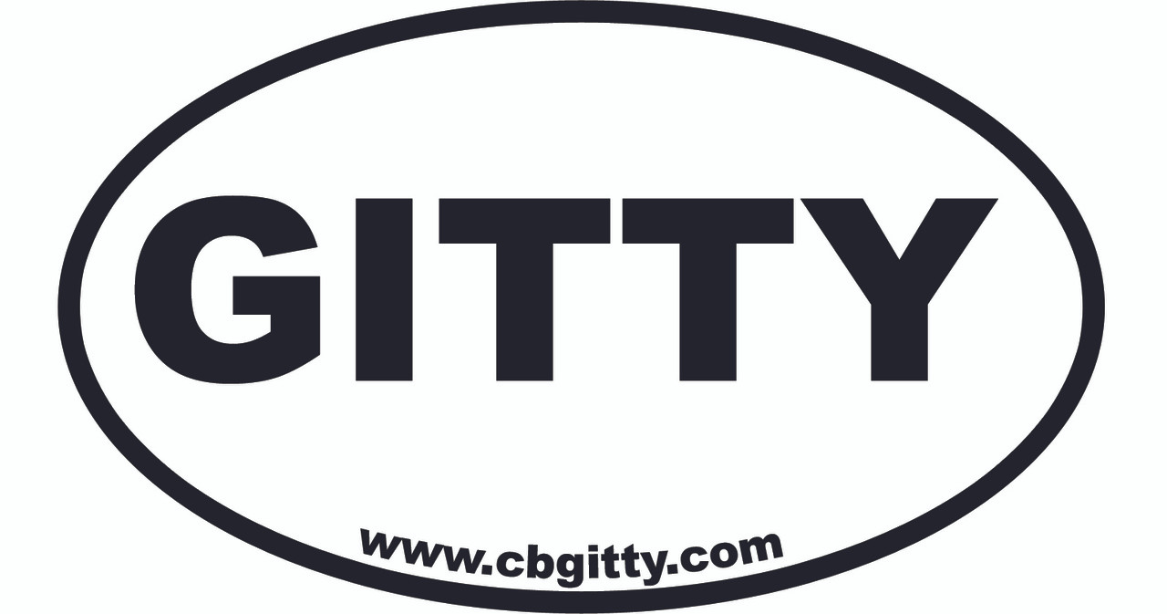 1pc 3 x 5 inch vinyl gitty oval bumper sticker c b for Oval bumper sticker template