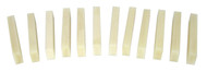 12pc. Bone Nut Blanks for Cigar Box Guitar