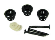 3pc. Black Strap Buttons with Screws