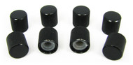 8-pack Black Flat-Top Press-Fit Knobs