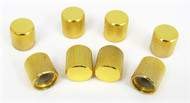 8-pack Gold Flat-Top Press-Fit Knobs