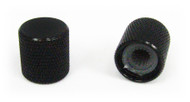 2-pack Black Flat-Top Press-Fit Knobs
