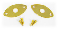 3-pack Gold Flat-Profile Ovoid Jack Plates