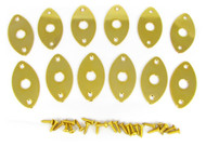 12-pack Gold Flat-Profile Ovoid Jack Plates