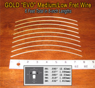 Jescar Medium/Low Gold EVO Fret Wire (6 ft)