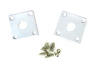 2-pack Square White Plastic Jack Plates